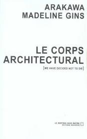 Le Corps Architectural - Intérieur - Format classique