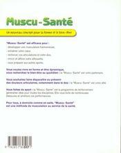 Muscu-Sante. La Nouvelle Methode Pour La Forme Et Le Bien-Etre - 4ème de couverture - Format classique