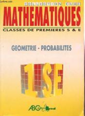 Mathematiques 1°s/e geometrie probabilites - Couverture - Format classique