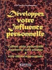 Developpez Votre Influence Personnelle - Couverture - Format classique