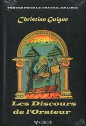 Les Discours De L'Orateur - Couverture - Format classique