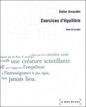 Exercices d'équilibre - Couverture - Format classique