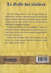 La griffe des ténèbres - 4ème de couverture - Format classique