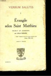 Verbum Salutis I. Evangile Selon Matthieu. - Couverture - Format classique