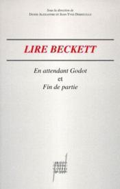 Lire Beckett ; en attendant Godot ; fin de partie - Couverture - Format classique
