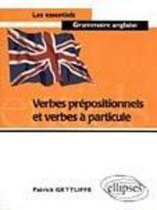 Verbes Prepositionnels Et Verbes A Particule - Intérieur - Format classique