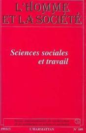 Sciences Sociales Et Travail - Couverture - Format classique