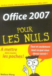Office 2007 pour les nuls - Intérieur - Format classique