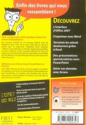 Office 2007 pour les nuls - 4ème de couverture - Format classique