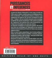 Puissances Et Influences - 4ème de couverture - Format classique