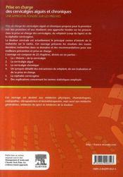 Prise en charge des cervicalgies aiguës et chroniques - 4ème de couverture - Format classique