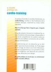 Le guide pratique du cardio-training - 4ème de couverture - Format classique