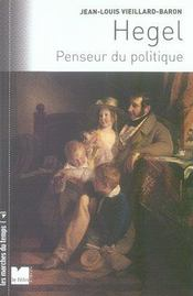 Hegel, penseur du politique - Intérieur - Format classique