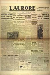 Aurore (L') N°471 du 21/02/1946 - Couverture - Format classique