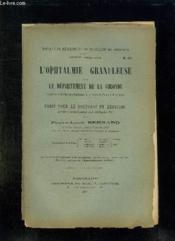 Aculte De Medecine Et De Pharmacie De Bordeaux N° 52 Annee 1903 - 1904. L Ophtalmie Granuleuse Dans Le Departement De La Gironde. - Couverture - Format classique
