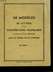 350 Chansons Anciennes40 Modeles De Lettres Pour La Classe De Fin D'Etudes - Couverture - Format classique