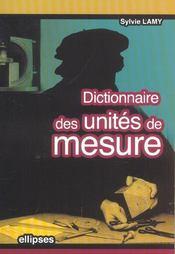 Dictionnaire Des Unites De Mesure - Intérieur - Format classique