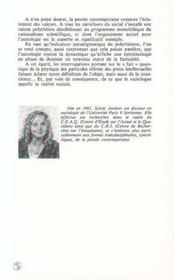 Raison Polytheiste. Essai De Sociologie Quantique - 4ème de couverture - Format classique