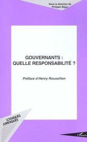 Gouvernants Quelle Responsabilite - Intérieur - Format classique