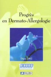Progres En Dermato-Allergologie 2002 - Couverture - Format classique