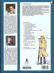 Clifton t.11 ; la mémoire brisée - 4ème de couverture - Format classique