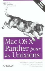 Mac Os X Panther Pour Les Unixiens - Intérieur - Format classique
