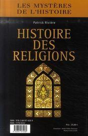 Histoire des religions - 4ème de couverture - Format classique