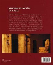 Religion et société en gaule - 4ème de couverture - Format classique