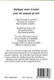 Quelques Notes D'Espoir Pour Un Soupcon De Noir - 4ème de couverture - Format classique