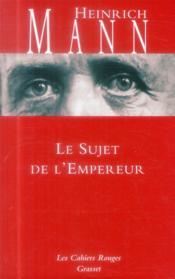 Le sujet de l'empereur - Couverture - Format classique
