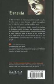 Dracula niveau: 2 - 4ème de couverture - Format classique