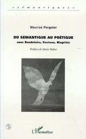 Du Semantique Au Poetique - Intérieur - Format classique