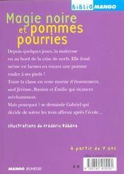 Magie Noire Et Pommes Pourries - 4ème de couverture - Format classique