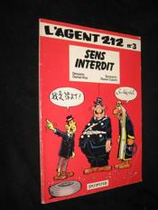 L'agent 212 t.3 ; sens interdit - Couverture - Format classique
