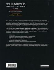 Soins infirmiers en médecine et en chirurgie t.3 ; fonctions digestive, métabolique et endocrinienne - 4ème de couverture - Format classique