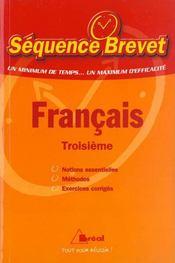 Francais ; troisieme - Intérieur - Format classique