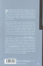 Pierre Laval - 4ème de couverture - Format classique