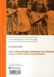 Une anthropologie historique et culturelle - Intérieur - Format classique