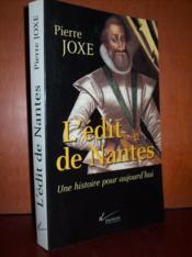 L'édit de Nantes : une histoire pour aujourd'hui. - Couverture - Format classique