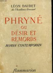 Phryne Ou Desir Et Remords. - Couverture - Format classique