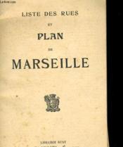 Liste Des Rues Et Plan De Marseille - Couverture - Format classique