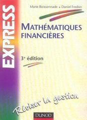 Mathematiques Financieres - 3eme Edition  - Boissonnade/Fredon