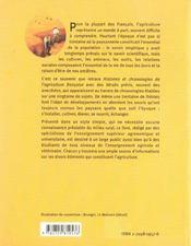 Histoires Et Chronologies De L'Agriculture Francaise - 4ème de couverture - Format classique