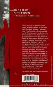 Marcel Duchamp Ou L'Eblouissement De L'Eclaboussure - 4ème de couverture - Format classique