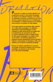 Le Reflux Gastro-Oesophagien : Conceptions Actuelles - 4ème de couverture - Format classique