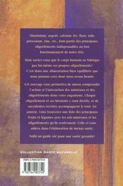 Les Valeurs Therapeuthiques Des Oligo-Elements - 4ème de couverture - Format classique