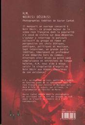 Noir(S) Desir(S) - 4ème de couverture - Format classique
