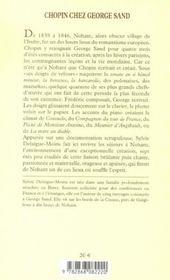 Chopin chez George Sand ; sept étés à Nohant - 4ème de couverture - Format classique