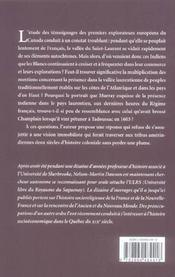 Feu, fourrures, fléaux et foi foudroyèrent les Montagnais - 4ème de couverture - Format classique