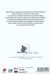 Revue Jules Verne N.10 ; Entretien Inédit Julien Gracq - 4ème de couverture - Format classique